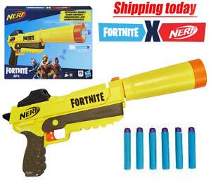 Nerf Fortnite SP-L Blaster gun Detachable Barrel Toy boys gift 6 fortnite darts.