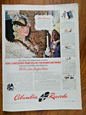 1942 Columbia Records Ad Lotte Lehmann1st Lady of Song Metropolitan Stars