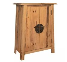 Oriental Chinese Cabinet Asian Side Furniture Rustic Solid Wood Vintage Cupboard