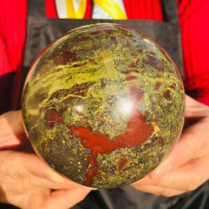 Natural dragon blood stone Quartz sphere Crystal Ball reiki Healing 1584g