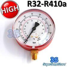 3S MANOMETRO ALTA PRESSIONE SCALA GAS REFRIGERANTE R32 R410A CLIMATIZZATORE New