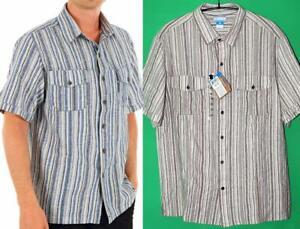 Columbia Men's Equatorial II Short Sleeve Linen/Cotton Shirt, S/Blue - $55 NWT!