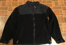 Mens CABELAS Fleece Jacket Size Medium Polartech Full Zip  Black