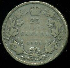 1903 Canada 25 Cent Piece, King Edward VII   O23