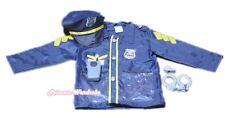 Policeman Police Jacket 5p Uniform Kids Party HALLOWEEN Costume Cosplay Set 3-7Y