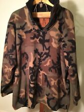 Vintage Woodland Camo Fleece Pullover Mens Xl Nice
