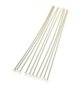 sterling silver headpins 3 inch 21 gauge 2mm head