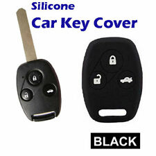 Silicone Car key cover Protector fits Honda Civic Accord CR-V 3 Button BlacK