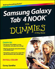 Samsung Galaxy Tab 4 NOOK For Dummies (For Dummies (Computer/Tech))-ExLibrary