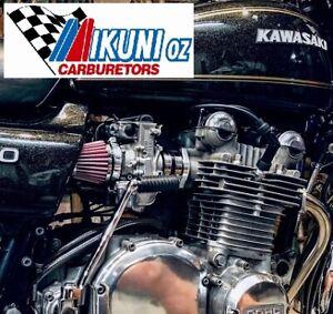 Kawasaki KZ900 & early KZ1000, Mikuni RS 34 Smoothbore Carbs, Mounts & Filters