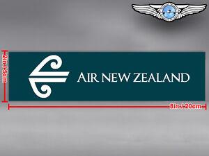 AIR NEW ZEALAND RECTANGULAR LOGO DECAL / STICKER