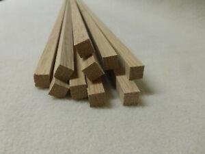 (a146) 1Stk 100cm Quadratleiste Eiche 10x10mm Vierkant Holzleisten