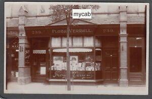 Postcard St Leonards on Sea Sussex shop front Flora Verrall Lady Photographer RP