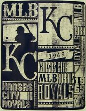 "Blanket Fleece Throw MLB Kansas City Royals NEW 50""x60"" with protective sleeve"