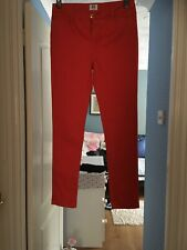 Red Jeans Style Trousers Size 10 Excellent Condition