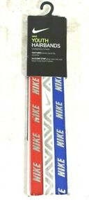 Nike Unisex Youth Hairbands 3 Piece One Size Red White & Blue Patriotic New