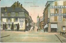 Saargemünd, Lothringen, Kasernenstrasse mit Geschäften, Ansichtskarte von 1917
