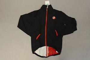 Castelli Women's Riparo Cycling Rain Jacket AB3 Black Size XL NWT