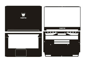 "Carbon fiber Laptop Sticker Skin Decals Cover for Acer Predator Triton 500 15.6"""