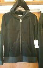 Juicy Couture - REGAL  BLUE - Velour - HOODIE - Size  LARGE - RETAIL - $54