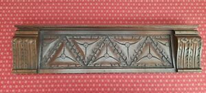 ANTIQUE FRENCH HAND CARVED WALNUT DECORATIVE CARVING / FRIEZE / CREST - c1900