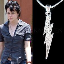 w Swarovski Crystal ~Lightning Bolt~ Thunderbolt Kristen Stewart Style Necklace