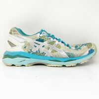 Asics Womens Gel Kayano 23 T6A5N Grey Blue Running Shoes Lace Up Low Top Size 8