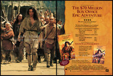 THE LAST OF THE MOHICANS__Original 1993 Trade AD movie promo__DANIEL DAY-LEWIS