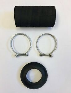 1936-1949 Plymouth Dodge, DeSoto, Chrysler Gas Filler Grommet Hose and Clamp Set