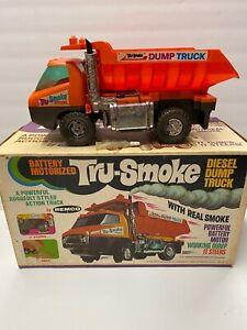 Vintage 1969 Remco Battery Powered Tru Smoke Diesel Dump Truck with Original Box