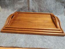 Mid Century Danish Style 3 Teak Wood Serving Trays with Handles