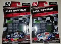 2019 NASCAR Authentics DAYTONA 500 SPECIAL EDITION #88 ALEX BOWMAN ~ LOT OF 2