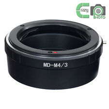 MD-M4/3 Adapter for Minolta MD Lens to  M4/3 PL1 P2 GF1 Panasonic GH4 G6 G7 OM-D