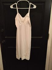 Shadowline Full White Slip Floral Lace Size 34 Vintage