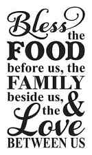 "Kitchen Stencil**Bless the Food Before Us **For Painting Signs Large 12""x 20"""