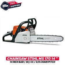 "Stihl MS170 Chainsaw 14"" Bar (35 cm) 30,1cc 3/8"" Chain Pitch W/ Tools Original"