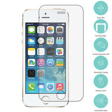 2X Real Premium Tempered Glass Film Screen Protector for Apple iPhone 5 5S 5C