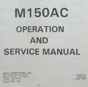 ROD-L M150AC Instruction Manual