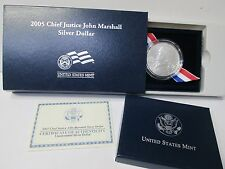 2005 Chief Justice John Marshall UNCIRCULATED Silver Dollar Commemorative