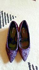 Ella Cruz, purple velvet court shoes, size 5 UK , gorgeous