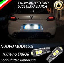 COPPIA LUCI TARGA 9 LED SCIROCCO T10 W5W CANBUS - NUOVO MODELLO 100%  NO ERROR