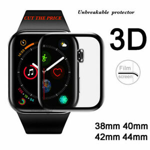 Apple Watch Full Edges Cover 3D Tempered Glass Protector Series SE/6/5/4/3/2/1