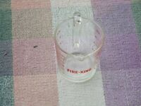 Vintage Fire King Anchor Hocking #498 Measuring Cup Clear / Red Print 2 Cup
