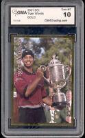 2001 Tiger Woods Sports Card Investor SCI Gold PGA rookie gem mint 10