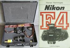 Nikon F4 35mm Kamera mit zwei Objektiven im limitierten Fan Case und Buch