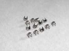 50 Ziernieten, Krallennieten, Nieten  3,5 mm silber  NEUWARE rostfrei  #426#