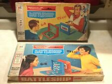 2 VINTAGE BATTLESHIP Board Game 1967 & 1971 Milton Bradley 100% Complete LOT
