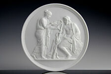Relief Asklapios & Hygieia Selten Thorvaldsen Bing & Gröndahl 1880 Klassizismus