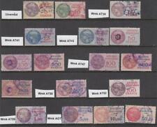France Affaires Etrangeres Revenues 17 used stamps 1937//1970 Yvert cv $176