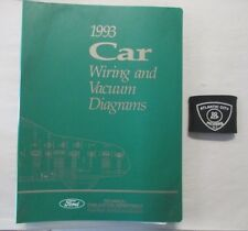 1993 ford car mustang thunderbird crown victoria vacuum & wiring diagrams  manual